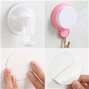 Sale 1PC Suction Cup Hook Auxiliary Tile Wall Without Double-sided Paste Patch Transparent Magic Stickers Strong Hanger