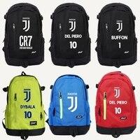 2018 cr7 School Bag Backpack Ronaldo Juventus Printing Boys Schoolbag Students Book Bags Kids School Bags Teenager Barcelona