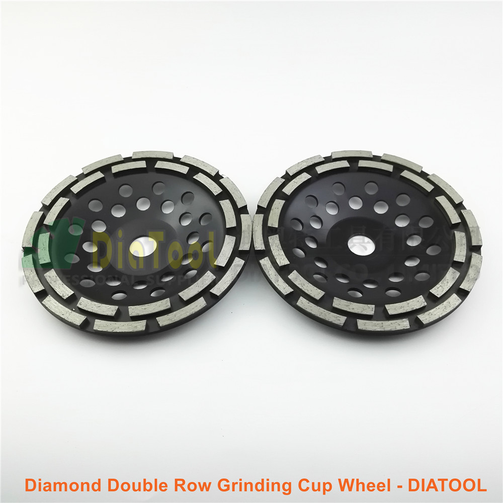 2pcs 180MM metal bond Diamond Double Row Grinding Cup Wheel Twin Row Grinding disc with multi holes bore 22.23mm for concrete metal bond 10pcs 3 diamond grinding cup