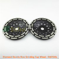 2pcs 180MM Metal Bond Diamond Double Row Grinding Cup Wheel Twin Row Grinding Disc With Multi