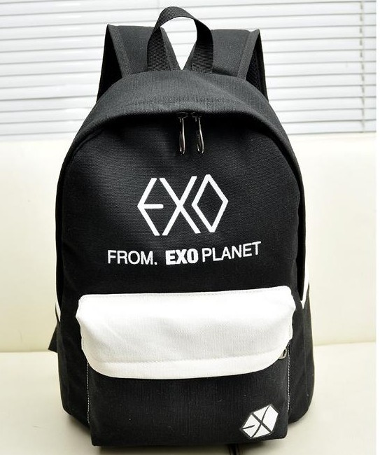 Teenager Colorful Canvas Backpacks Rucksacks Men/Women Student School Bags For Girl Boy Casual Travel EXO Bags