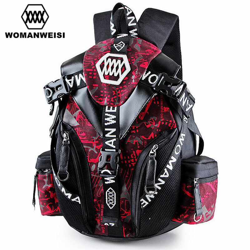 2018 Japanese Korean New Designer Famous Brand Men Canvas Backpack Cool School Bags Mochila Women Printing Backpack For Teenage 2017 japanese korean new designer famous brand men canvas backpack cool school bags mochila women printing backpack for teenage