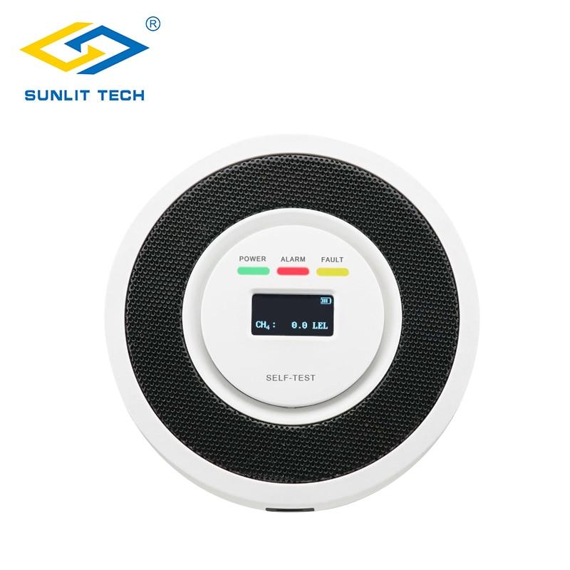 Fire Alarm Detector 85dB Sensitive LPG Natural Gas Leak Sensor Digital Display Battery Powered Home Security Alarm Gas Detectors