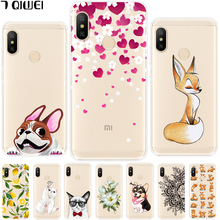 hot deal buy for xiaomi redmi note 6 pro case silicone soft phone cover for xiaomi redmi note 6 pro case redmi note 6 note6 pro cool animal