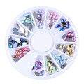 1 AB Rueda CALIENTE 12 Colores de Acrílico Oval Del Rhinestone Decoraciones Del Arte Del Clavo DIY Manicura Consejos Rueda