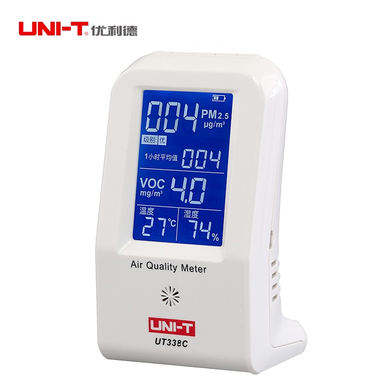 UNI-T UT338A Indoor Formaldehyde Detector LCD Display Rechargeable Formaldehyde Data Logger Air Monitor Hygrometer ThermometerUNI-T UT338A Indoor Formaldehyde Detector LCD Display Rechargeable Formaldehyde Data Logger Air Monitor Hygrometer Thermometer