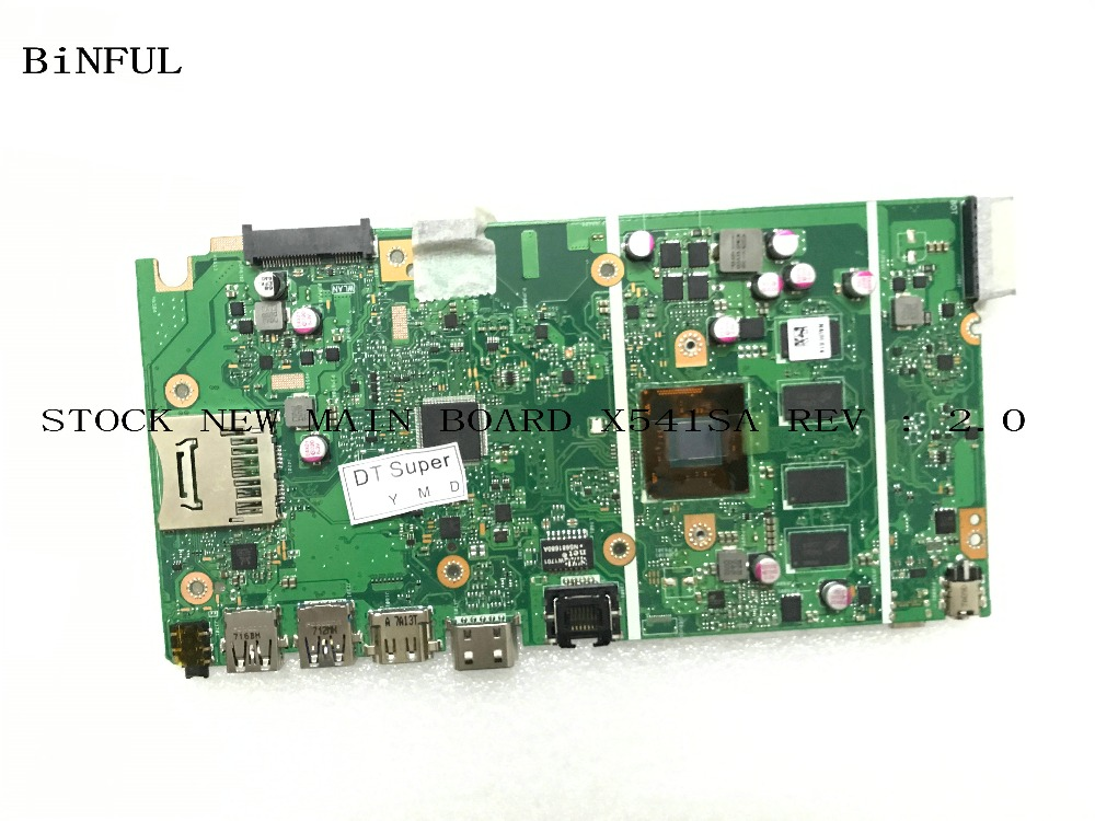 BiNFUL AVAILABLE NEW LAPTOP MOTHERBOARD FOR ASUS X541SA REV : 2.0 MAIN BOARD 4GB RAM PROCESSOR N3060