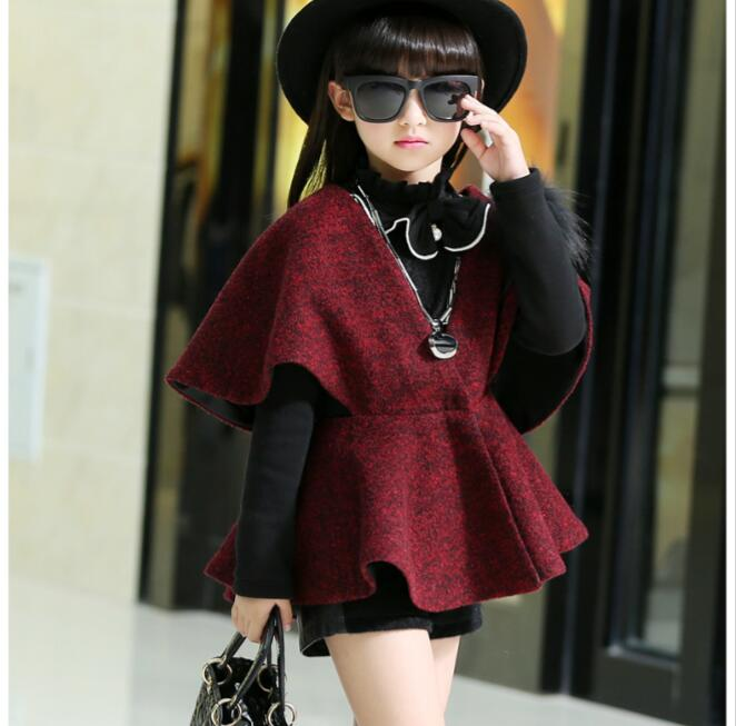 2 Piece Set Girls Thick Warm Winter Turtleneck T-Shirts+Wool Coat Fashion Teenage Clothing Sets 4-14 Years old Age kocotree suit for 3 12 years old children unisex cap scarf gloves winter warm three piece sets