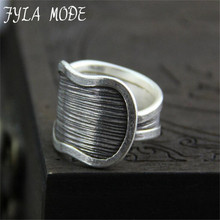 Fyla Mode Original Silver Ring Opening Thailand Tefo Chiang Mai Imported Handmade Silver Ring S999 Sterling Silver Ring 17.40mm