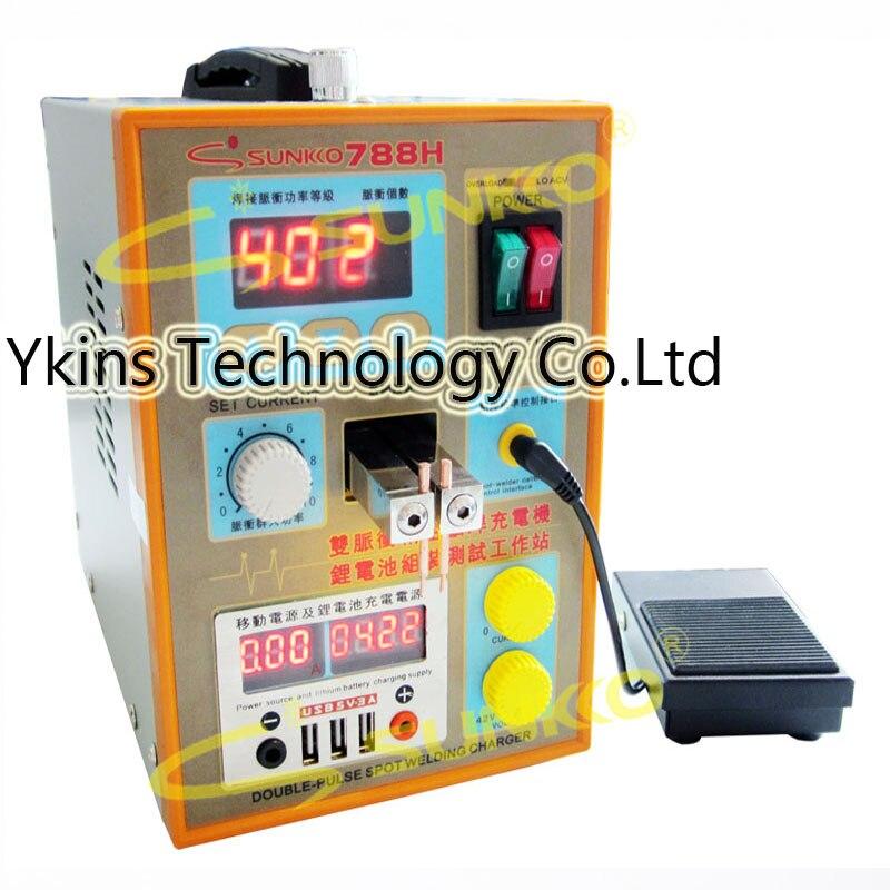 788H USB Battery Spot Welder USB Charge Test LED Lighting 220V 110V Spot Welding Machine 18650 Battery Test Spot Welding