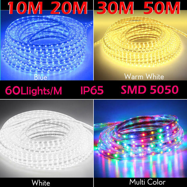 Us 23 98 20 Off 10m 20m 30m 50m Party Christmas Lights Wedding Led Rope Light Waterproof For Indoor And Outdoor Background Decorative Lighting In