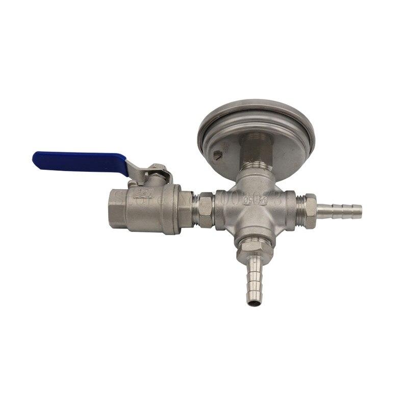 Robinet à tournant sphérique en acier inoxydable, Kit de température de refroidisseur sans soudure, thermomètre bi-métal 3