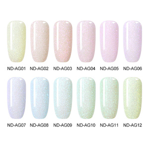 Image 2 - NICOLE DIARY Blinking Dipping Nail Powder Colorful Sweet Dip Glitter Chrome Nail Art Decorations Dipping Base Top Activator