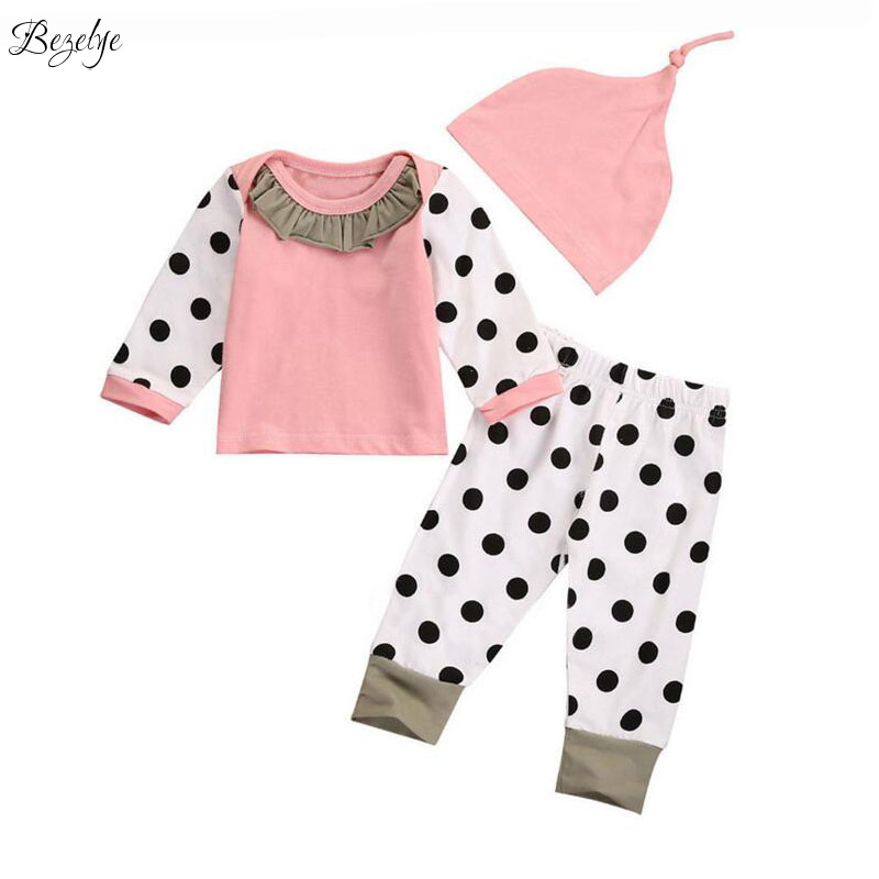 Spring Casual Baby Girl Set Infant Kits for Newborns Long Sleeves Children Sports Suits Clothes for Babies New Born Baby Clothes 2017 two babies strollers for twins old bebek arabasi prams for newborns baby girl