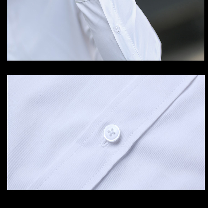 Brand New Cotton Breathable Business Casual shirts Fashion Short Sleeve Male Tops Tee Fashion Stand Down Collar shirt ZT024 23