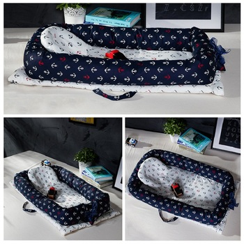 Portable Baby Nest Bed Crib Bumper