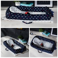 Baby Nest Bed Crib Portable Removable And Washable Baby Crib Travel Bed For Children Infant Kid Cotton Cradle For Newborn Bumper
