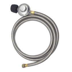 Earth Star 6FT Stainless Steel Braided Tube Gas Oven Heater Brazier Fireplace Low Pressure Relief Valve Fittings