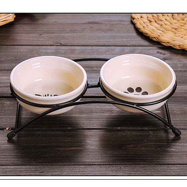 Ceramic feeding bowl for Fish bowl pets