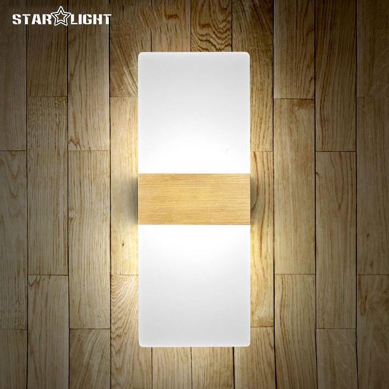 ФОТО Modern 12w/6w LED wall lamp for Kitchen Restaurant Living Bedroom bathroom light indoor 29x11cm Plexiglass wall mounted lighting