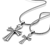 Mode Vintage Thai Silber Kreuz Halskette Solide 925 Sterling Silber Kreuz Anhänger Lange Kette. Hip hop punk stil mann schmuck
