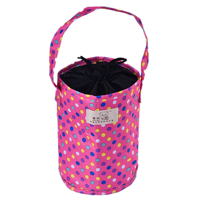 Lunch Box Thermal Insulated Tote Trendy Cooler Bag Bento Pouch Lunch Container Pink