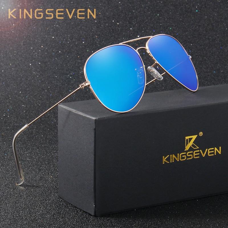 Colorful Glasses Lens Reflective Sunglasses Classic Accessories Sun Menwomen Coating Polarized Kingseven Eyewear 3026 Fashion xBeCrodW