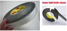 1x 75 мм * 50 М 3 М 9448 Черный Двусторонняя Лента для LED LCD/Сенсорный Экран/дисплей/Pannel/Корпус/Корпус Клей Черный