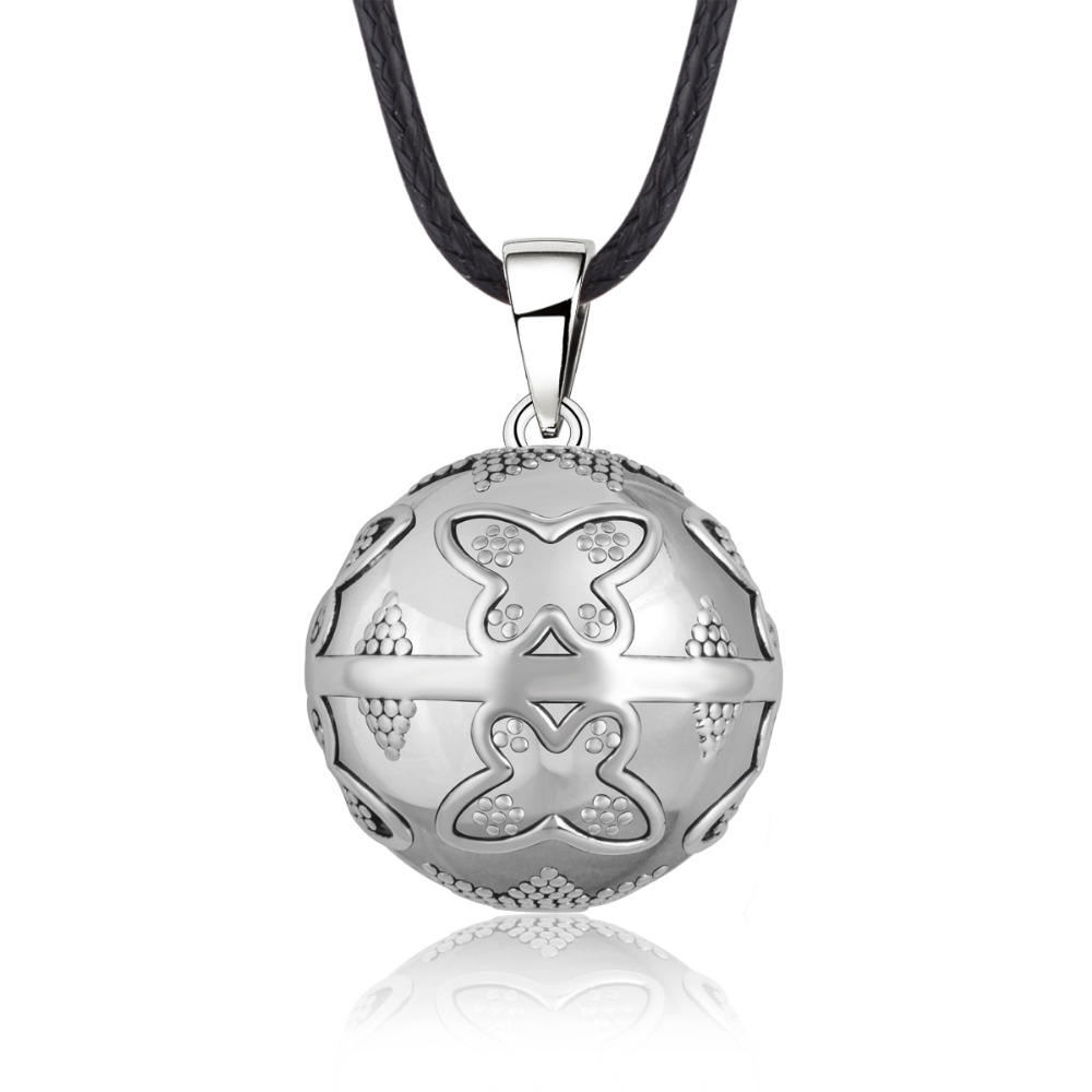 Eudora Mexican Bola Harmony Ball Pendant Angel Caller Necklace Butterfly Musical Sounds Bola Balls Jewelry for Pregnant Women