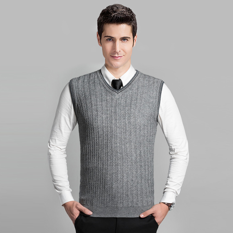 Free Knitting Pattern Ladies V Neck Vest : Online Buy Wholesale cable knit sweater vest from China ...