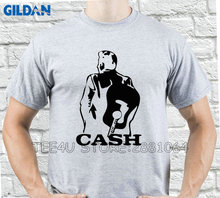 Gildan Tee4U T Shirt Company Short Johnny Cash Walk The Line O-Neck Short-Sleeve Mens T Shirts