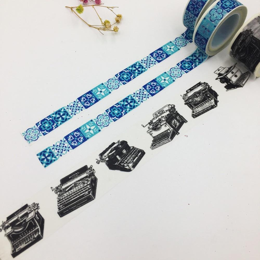 Beautiful 30mm*5m/15mm*10m High Quality Washi Paper Tape/vintage Typewriter And Varied Morocco Brick/masking  Japan Washi Tape
