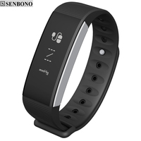 SENBONO Bluetooth Smartband Heart Rate Monitor Blood Pressure Waterproof Wristband Fitness Tracker For Android IOS T30