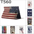 Fashion Cartoon Cute USA UK Flag wallet card pu leather stand holder case cover for Samsung Galaxy Tab E 9.6 T560 SM-T560 T561