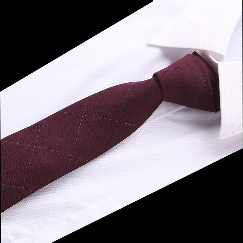 20Colors Luxury Wool Ties For Men 6cm Wide 2018 New Fashion Slim Necktie Plaid Wedding Solid Red Black Grey Cotton Designer Tie