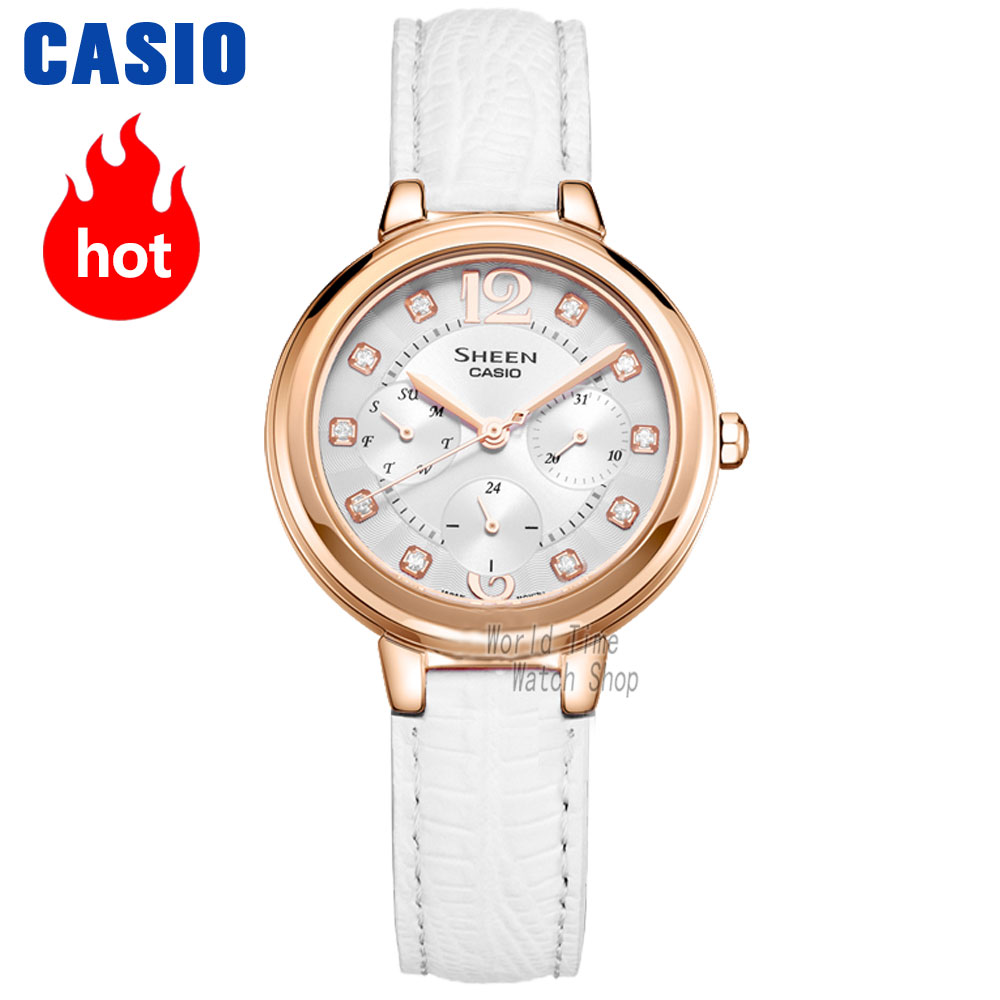Casio watch waterproof quartz watch SHE-3048PGL-6A SHE-3048PGL-7A casio she 5020l 7a