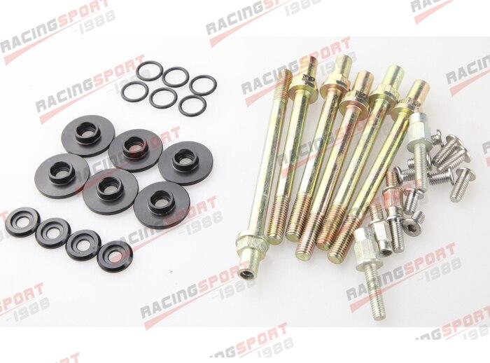 BLACK LOW PROFILE VALVE COVER WASHER KIT FOR HONDA ACURA K-SERIES K20 K24 mr gasket 6324 valve cover stud kit