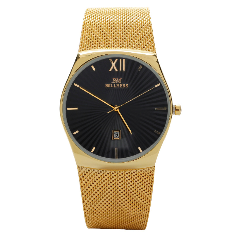 Fashion simple stylish Top Luxury brand BELLMERS Watches men women Stainless Steel Mesh strap Quartz-watch man relogio masculino classic simple star women watch men top famous luxury brand quartz watch leather student watches for loves relogio feminino
