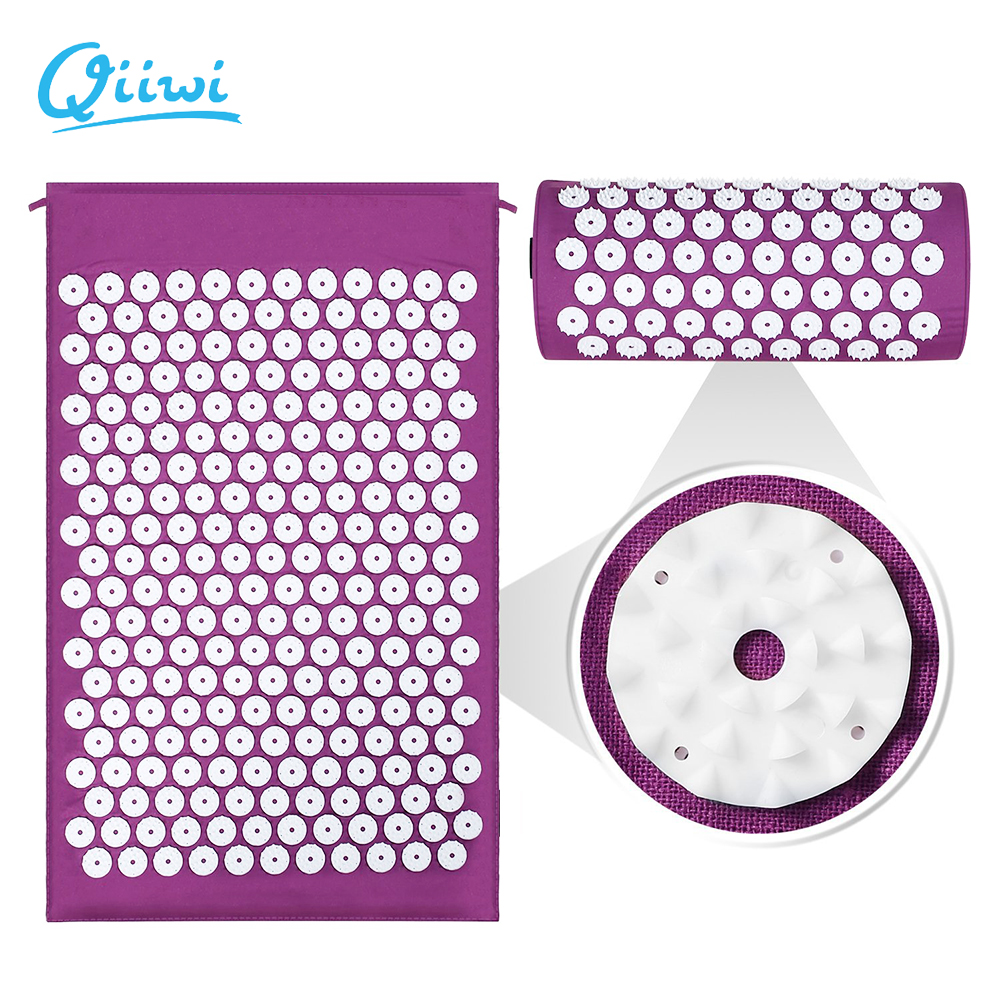 Dr.Qiiwi Massager Cushion Mat Set For Body Head Acupressure Relieve Stress Pain Muscle Tension Spike Yoga Mats Pad And Pillow