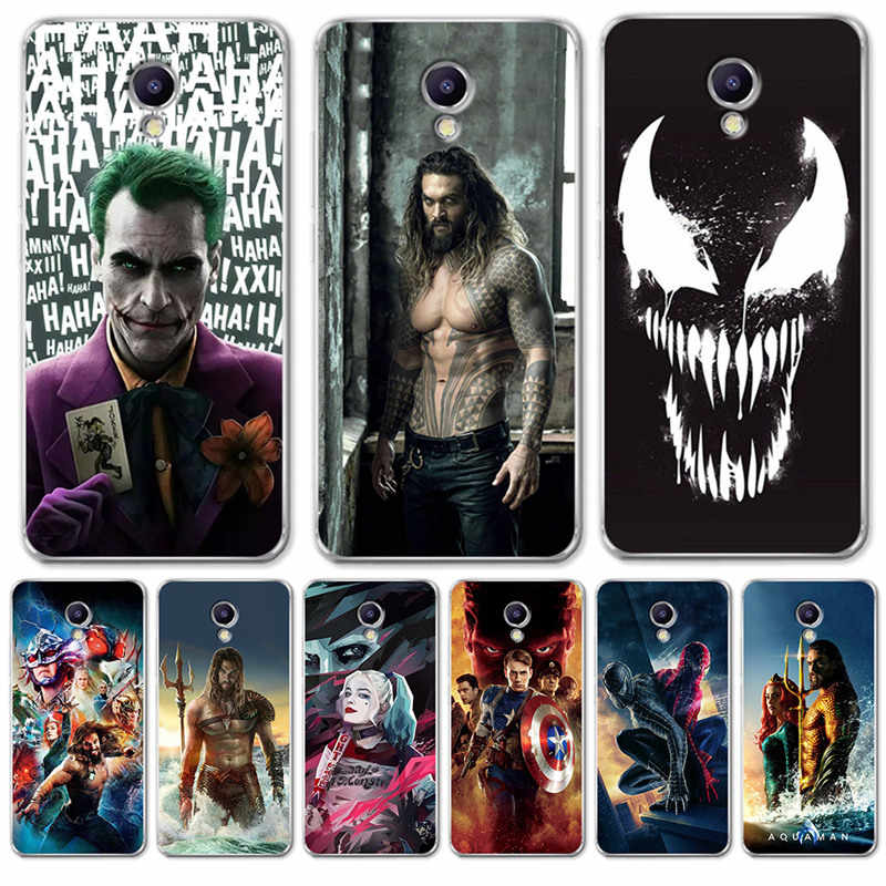 Luxury Venom joker Aquaman marvel For Meizu M3S M5 M5S M5C M6 M3 M5 M6 Note U10 U20 Case Cover Silicone Coque Capinha Etui hero