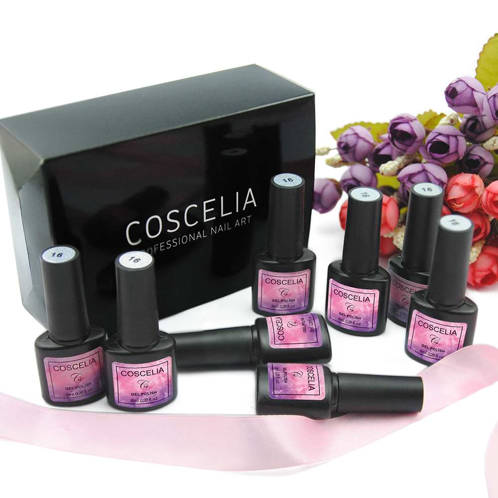 Gel Nail Soak Off Kit: Nail Set Gel Nail 36W UV Lamp Dryer Manicure Set 10pcs