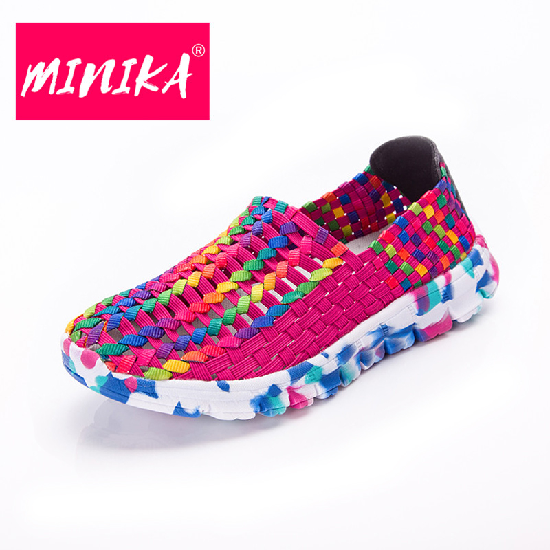 MINIKA New Arrival 2017 Flat Shoes Women Unique Design Breathable Casual Shoes Women Shallow Platform Shoes Women Slip-on Shoes minika new arrival 2017 casual shoes women multicolor optional comfortable women flat shoes fashion patchwork platform shoes