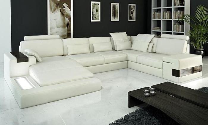 Sofa Jualan Panas Sofa Reka Bentuk Moden Sofa perabot Sofa Sofa Kulit - Perabot - Foto 2