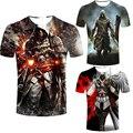 Assassins Creed мужская футболка Мужской Assassin's с коротким Рукавом костюм Мужчины черный флаг футболка