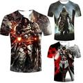 Assassins Creed assassins Dos Homens t-shirt masculina de Manga curta Dos Homens do traje preto camisa da bandeira t