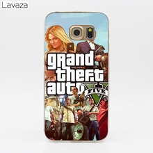 Lavaza Grand Theft Auto GTA V Hard Transparent Case for Samsung Galaxy S3 S4 S5 & Mini S6 S7 S8 Edge Plus
