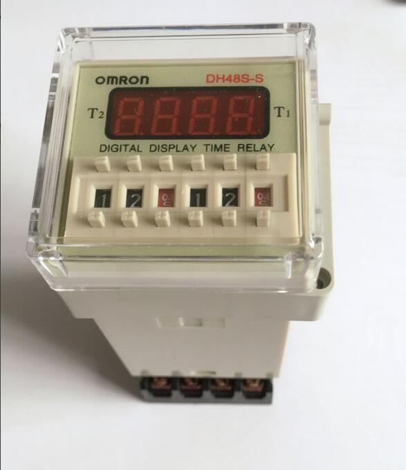 Digital display time relay DH48S DH48S-S cycle control relay 0.01S-990H 8PIN with base DC12V/24V/36V/AC110V/220V/380V dh48j 8 1 9999 panel mount digital counter relay w base ac dc 24v 50 60hz