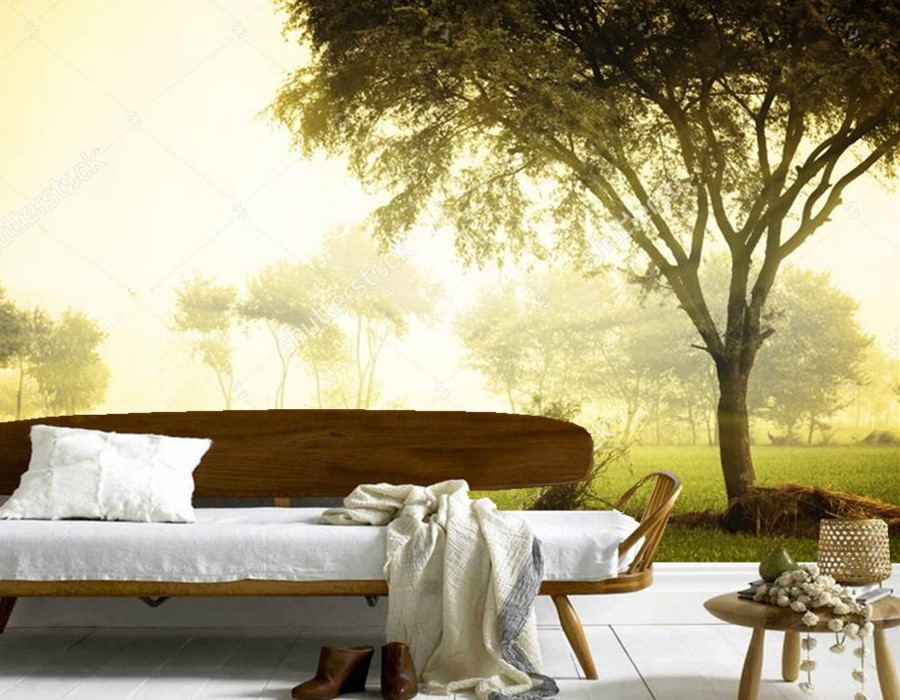 Custom wallpaper forest in the early morning,restaurant  living room sofa TV wall bedroom mural 3d wallpaper nature for room молдинги in the morning auto parts 2014 14 12