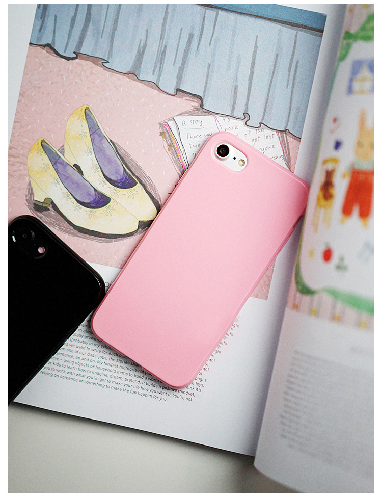 best loved 48b66 f670e Candy Soft TPU Iphone 8 Case Pink Color Silicon For Iphone 4 4S 5 5S 5C 6  6S 7 Plus Back Phone Cover Cases Fundas
