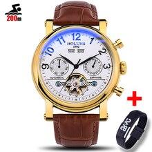 200 メートル防水メンズ腕時計トップブランドの高級自動機械式時計男性フル鉄鋼事業スポーツ腕時計レロジオ Masculino